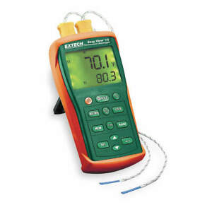 Extech Thermocouple Thermometer 2 Input type K Ea10