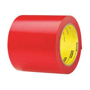 3m Vinyl Marking Tape roll 4in W 108 Ft L red 471