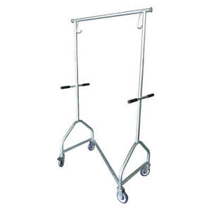 Grainger Approved Steel Garment Rack collapsible 56 To 73 In H 5chv7 Gray