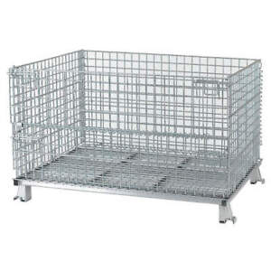 Nashvill Steel Wire Mesh Collapsible Container 48 In W silver C404824s4 Silver