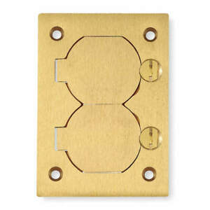 Hubbell Wiring Device kellems Brass Cover floor Box S3825