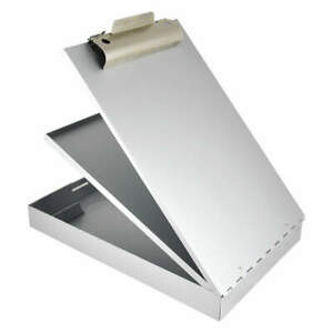 Saunders Storage Clipboard legal Sz metal silver 21018 Silver