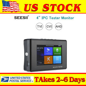 Tvi Cvi Ahd 4 3in1 Tester Monitor 4k Ip Camera Hd Cctv Security Analog Dc 12v