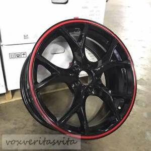 18 Civic Type R Style Wheels Rims Red Black Fits Honda Crv Odyssey Acura Tsx Tl