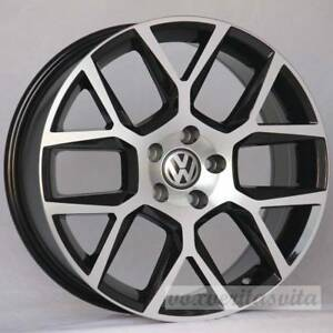 18 Black Laguna Style Wheels Rims Fits Vw Volkswagen New Beetle Tiguan