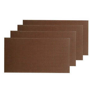Pegbrd Panel 48 rnd Hole brown pk4 Tpb 4br
