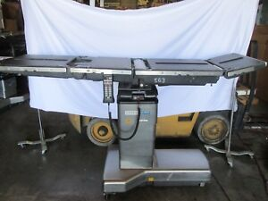 Surgical Operating Table Steris Amsco 3085sp With New Batteries Pre Owned