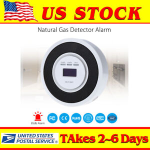 Household Combustible Natural Gas Leak Detector Tester Sniffer Oled Screen White