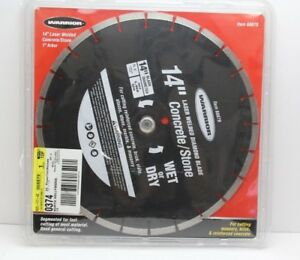 Warrior 14 Segmented Wet Dry Cut Diamond Blade Concrete 68879 Laser Welded