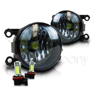 For 2005 2015 Ford Mustang Replacement Fog Lights W Cob Bulbs Smoke