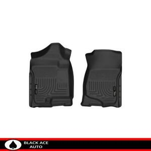 Husky Weatherbeater Front Floor Mats Black For Gm Truck suv 2007 14 Ext crew Cab