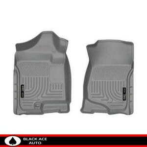 Husky Weatherbeater Front Floor Mats Grey For Gm Truck Suv 2007 14 Ext Crew Cab