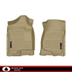Husky Weatherbeater Front Floor Mats Tan For Gm Truck Suv 2007 14 Ext Crew Cab
