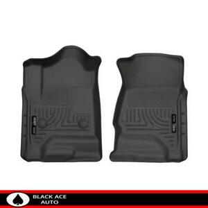 Husky Weatherbeater Front Floor Mats Black For Gm Truck Suv 2015 18 Ext Crew Cab