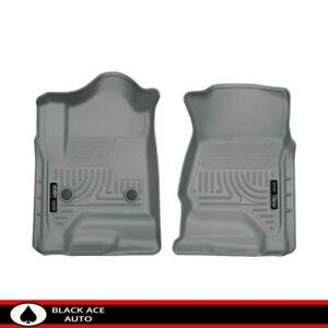 Husky Weatherbeater Front Floor Mats Grey For Gm Truck Suv 2015 18 Ext Crew Cab