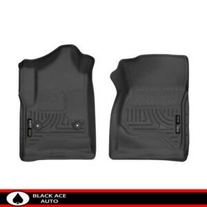 Husky Weatherbeater Front Floor Mats Black For Gm Truck suv 2014 18 Standard Cab