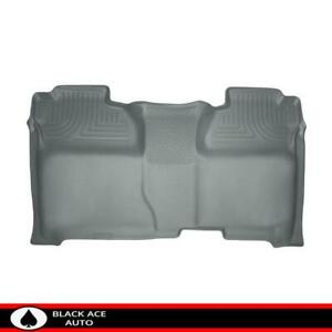 Husky Weatherbeater 2nd Row Floor Mat Grey For Silverado sierra 14 18 Crew Cab