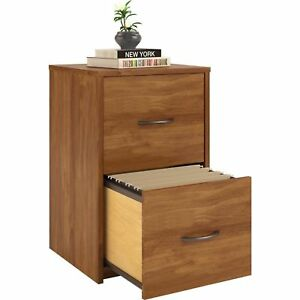 Ameriwood 2 Drawer Cabinet File Office Wood Storage Home Furniture Brown Oak New