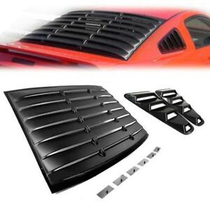 05 14 Ford Mustang Gt Coupe Black Vent Rear Window Scoop Louver Shade Cover Side