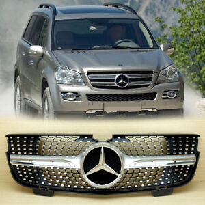 Chrome Silver Front Grille Gl450 Gl320 Gl350 For Mercedes Benz X164 Gl Class