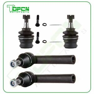 4pcs Front Outer Tie Rods Lower Ball Joints For Subaru Impreza Forester Legacy