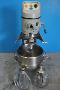 Globe 30 Quart Mixer Stainless Steel Bowl Floor Model With Bowl Hook Paddle A
