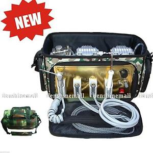 Portable Dental Unit With Air Compressor Suction System 3 Way Syringe Fda