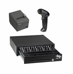 Pos Hardware Bundle For Square Stand Cash Drawer Thermal Receipt Printer A