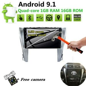 Android 9 1 Hd Car Dvd Player Radio Stereo Gps Navi For Toyota Camry 2012 2014