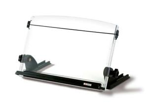 3m Adjustable Document Copy Holder In Line With Monitor Elastic Line Guide Black