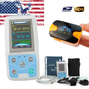 Contec Ambulatory Abmp Holter Monitor Machine Monitoring Device Oximeter Usps