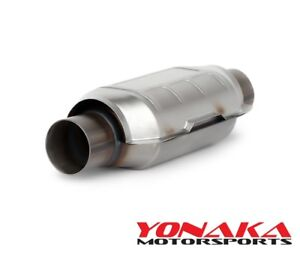 2 5 Inlet Outlet Yonaka High Flow Universal Catalytic Converter Ceramic Core