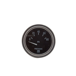 Stewart Warner 82304 Deluxe Series Oil Pressure Gauge 0 80psi
