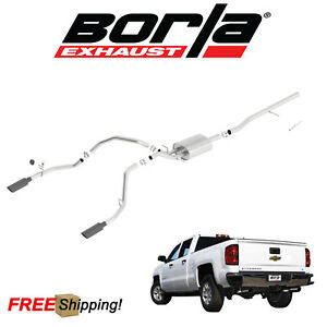 Borla Atak Cat back Performance Dual Exhaust 14 18 Silverado 1500 5 3l V8 4dr