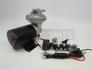 Electric Power Brake Booster Vacuum Pump Kit 18 To 22 For Brake Booster 12v