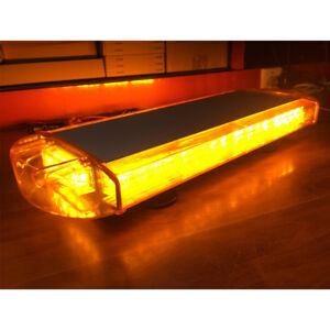 21 inch 40led Work Lighting Amber Yellow Warn Truck Strobe Tow Light Bar Roof Us