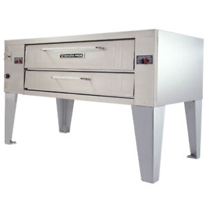 New Bakers Pride Pizza Oven Y 600 Single With Legs Natural Gas Make Offers