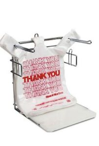 Royal Metal Bag Rack T shirt Thank You Plastic Grocery Store Shopping Carry Out