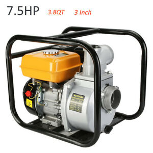 7 5hp 3 Gas Pool Gasoline Water Pump Semi Trash Pump 3 Inch Inlet Outlet Npt My