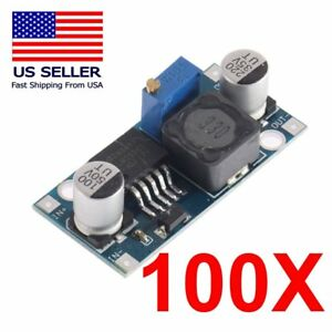 100pcs Lm2596_dc dc Buck Adjustable Step down Power Supply Converter Module Usa