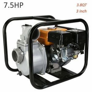 7 5hp 3 Gas Water Pump 3 8 Qt 16 000 Gph Semi Trash Pump 3 Inch Inlet Outlet Ur