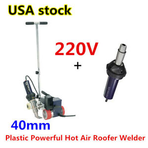 Us Roofer Rw3400 Automatic Roofing Hot Air Plastic Welder 40mm Overlap Nozzle