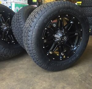 20 Fuel D531 Hostage Black Wheels 33 Toyo At2 Tires 5x150 Toyota Tundra
