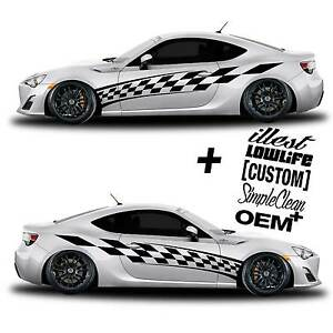 Vinyl Body Graphics Racing Flag Car Sticker Decal 201 5 Decals Jdm Euro Race