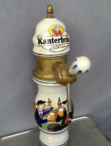 Vintage French Beer Draft System Faucet With Sink Kanterbrau Ceramic Brass