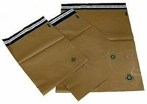 Biodegradable Poly Bag Mailers 100 7 14 5 X19 Brown Eco Friendly Unlined Ss