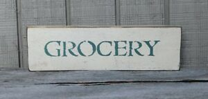 Primitive Vintage Wood Sign Or Shelf Sitter Reproduction Grocery