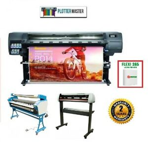 Hp 330 64 Latex Printer Plotter Sign Car Wrap Flexi Rip Cutter Laminator