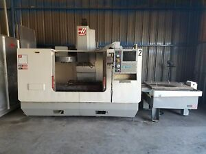 Used Haas Vf 3 Apc Cnc Vertical Machining Center Mill W Automatic Pallet 2002