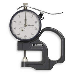 Mitutoyo Dial Thickness Gage 0 To 0 500 In 7300s